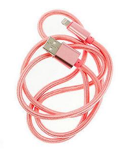 USB Lightning laadimskaabel 1 meeter, roosa