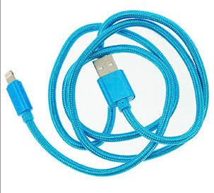 USB Lightning laadimskaabel 1 meeter, helesinine