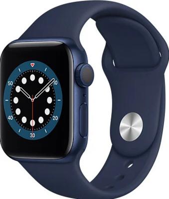 Apple Watch Series 6 (GPS) Alumiinium, sinine kellarihm