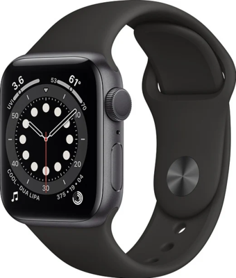 Apple Watch Series 6 (GPS) Alumiinium, must kellarihm