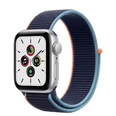 Apple Watch SE, hõbe alumiinium korpus, Sport Loop, Deep Navy