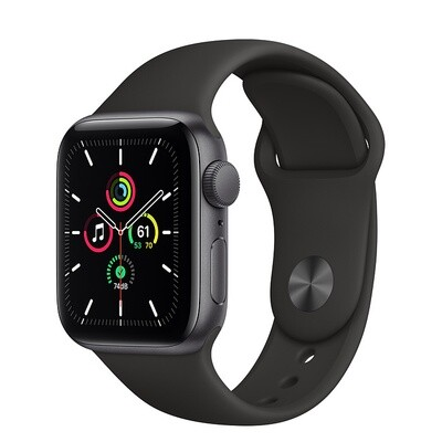 Apple Watch SE, kosmose hall alumiinium korpus, Black