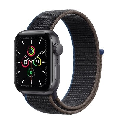 Apple Watch SE, kosmose hall alumiinium korpus, Sport Loop, Charcoal