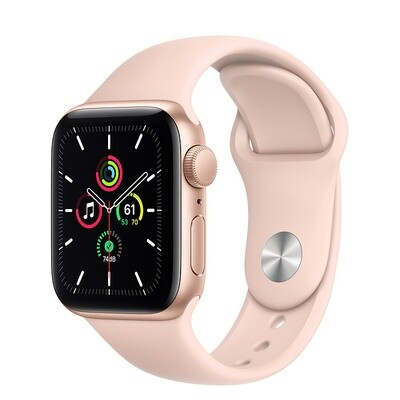 Apple Watch SE, kuldne alumiinium korpus, Pink Sand