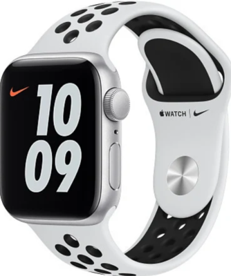 Apple Watch Nike SE,  hõbe alumiinium korpus, Pure Platinum/Black