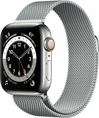 Apple Watch Series 6, Silver Stainless Steel Case, Silver Milanese Loop