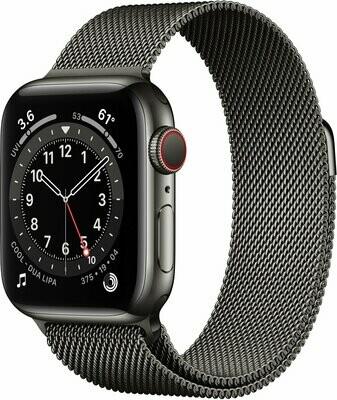 Apple Watch Series 6, Graphite Stainless Steel Case, Graphite Milanese Loop