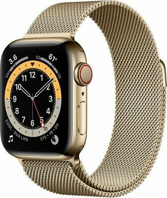 Apple Watch Series 6, Gold Stainless Steel Case, Gold Milanese Loop