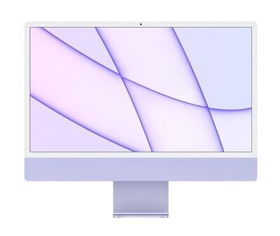 """UUS! Apple iMac 2021 24"""" M1 Retina 4,5K, lilla"""