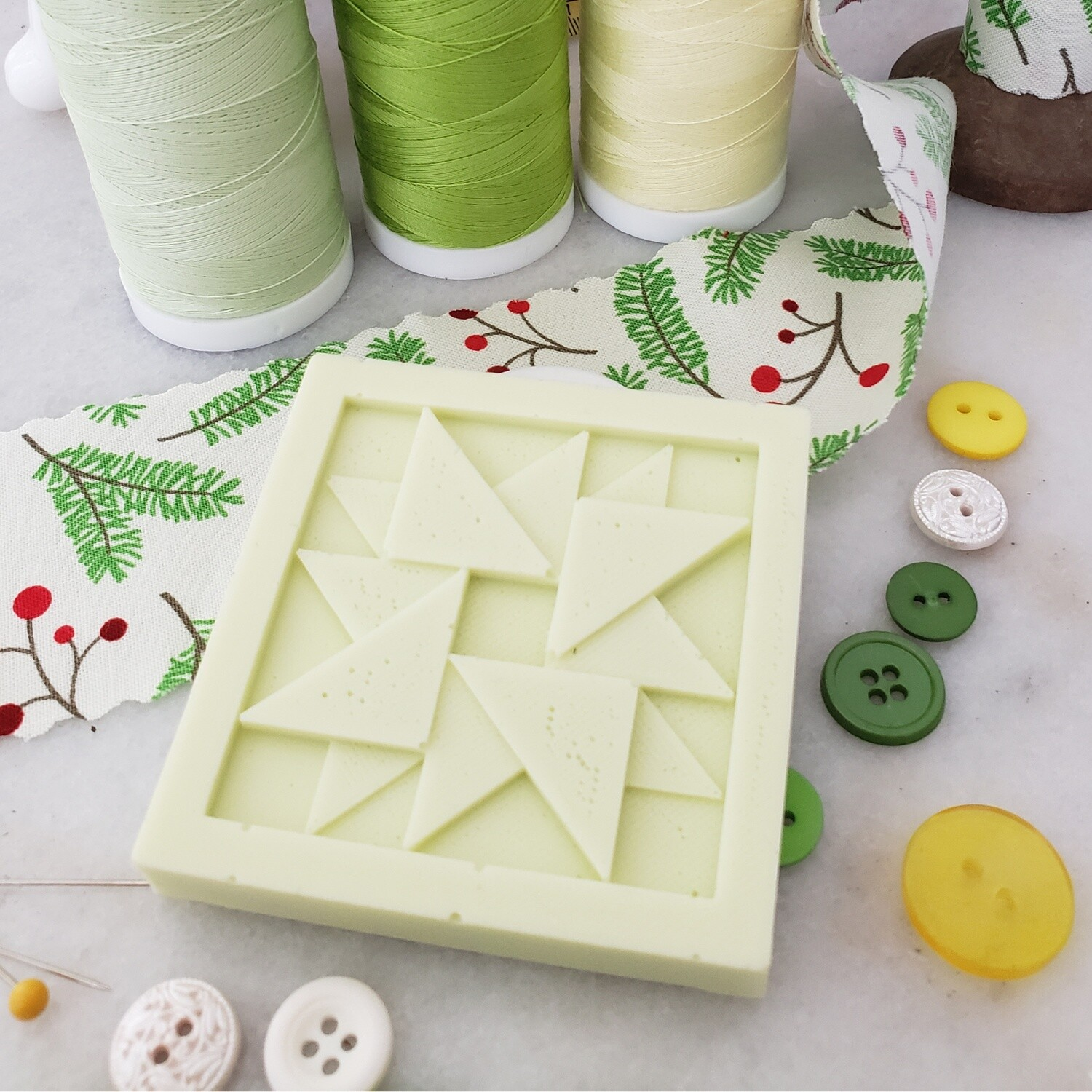 TWO Vermont Pear Tree Quilt Block Soaps