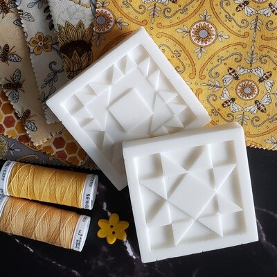 TWO Milk and Honey Morning Quilt Block Soap