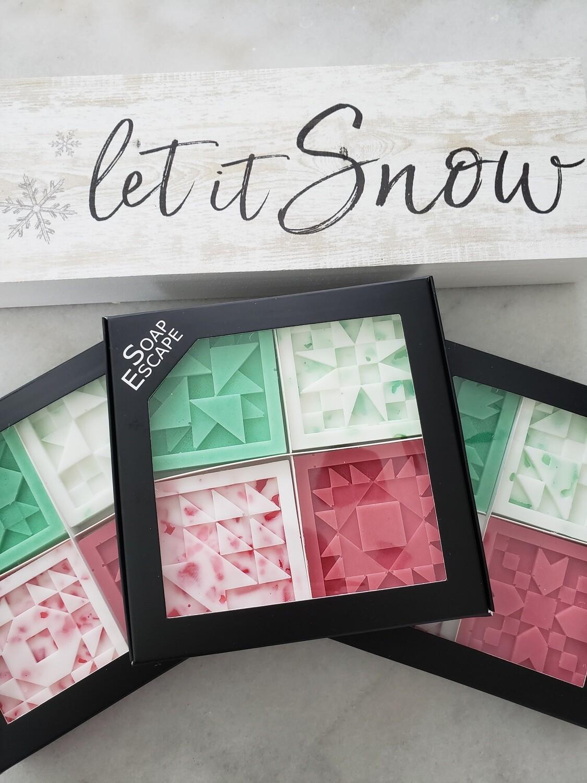 Christmas Gift Pack Quilt Block Soap Sampler