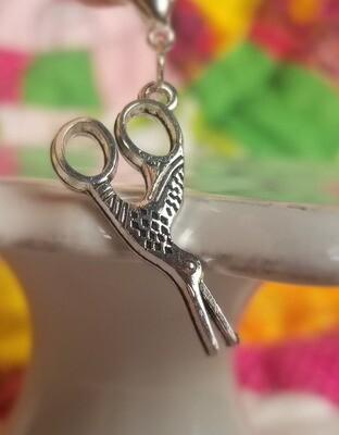 Decorative Silver Scissors Charm