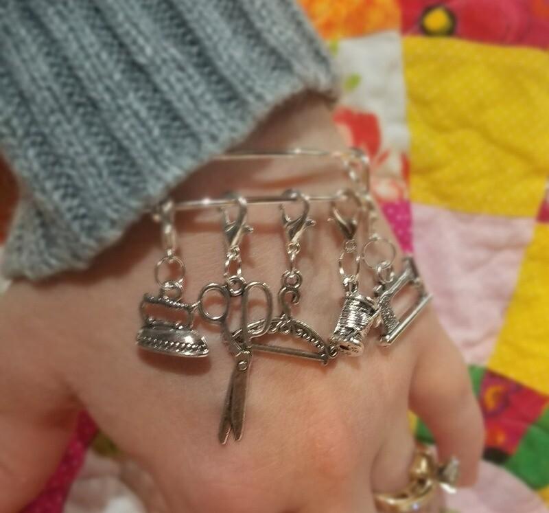 Bangle Bracelet and 5 charm bundle
