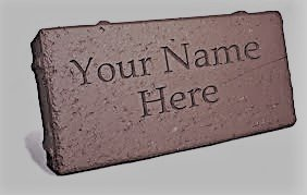"Personalized Brick 4"" x 8"""