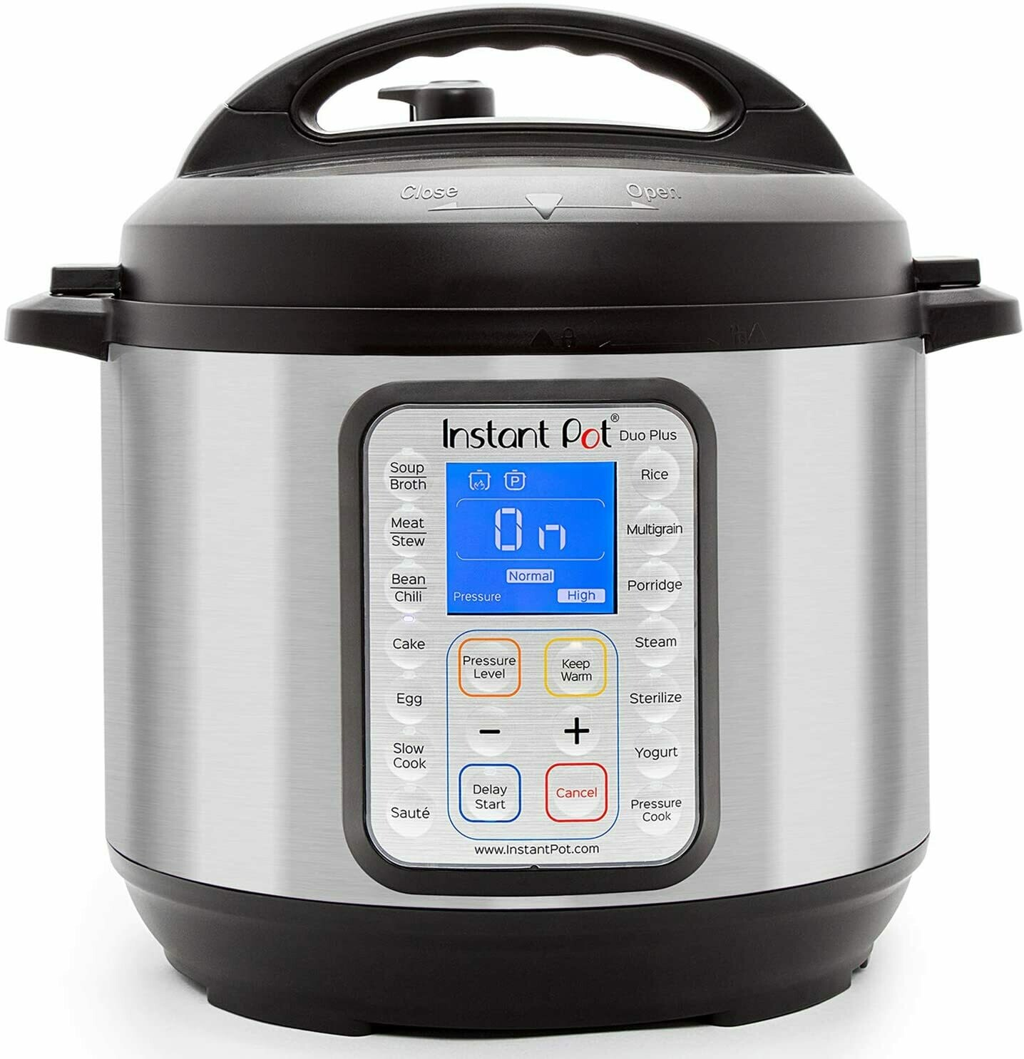 CE-326 OLLA Instant Pot - Duo Plus 6 Quart 9-in-1  Multi-Use Pressure Cooker 15 Program 1000 W Stain Steel