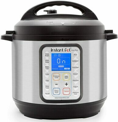 CE-326 OLLA Instant Pot - Duo Plus 6 Quart 9-in-1  Multi-Use Pressure Cooker 15 Program 1000 W Stain Steel