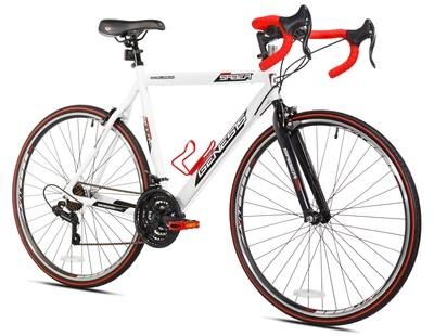 CE-114 Genesis 700c Saber Men's Road Bike, Medium, White - CARIBE