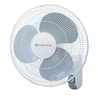 CE-915 VENTILADOR DE PARED Comfort Zone 16 in. White Giratorio 3 Velocidades Adjustable Tilt - CARIBE
