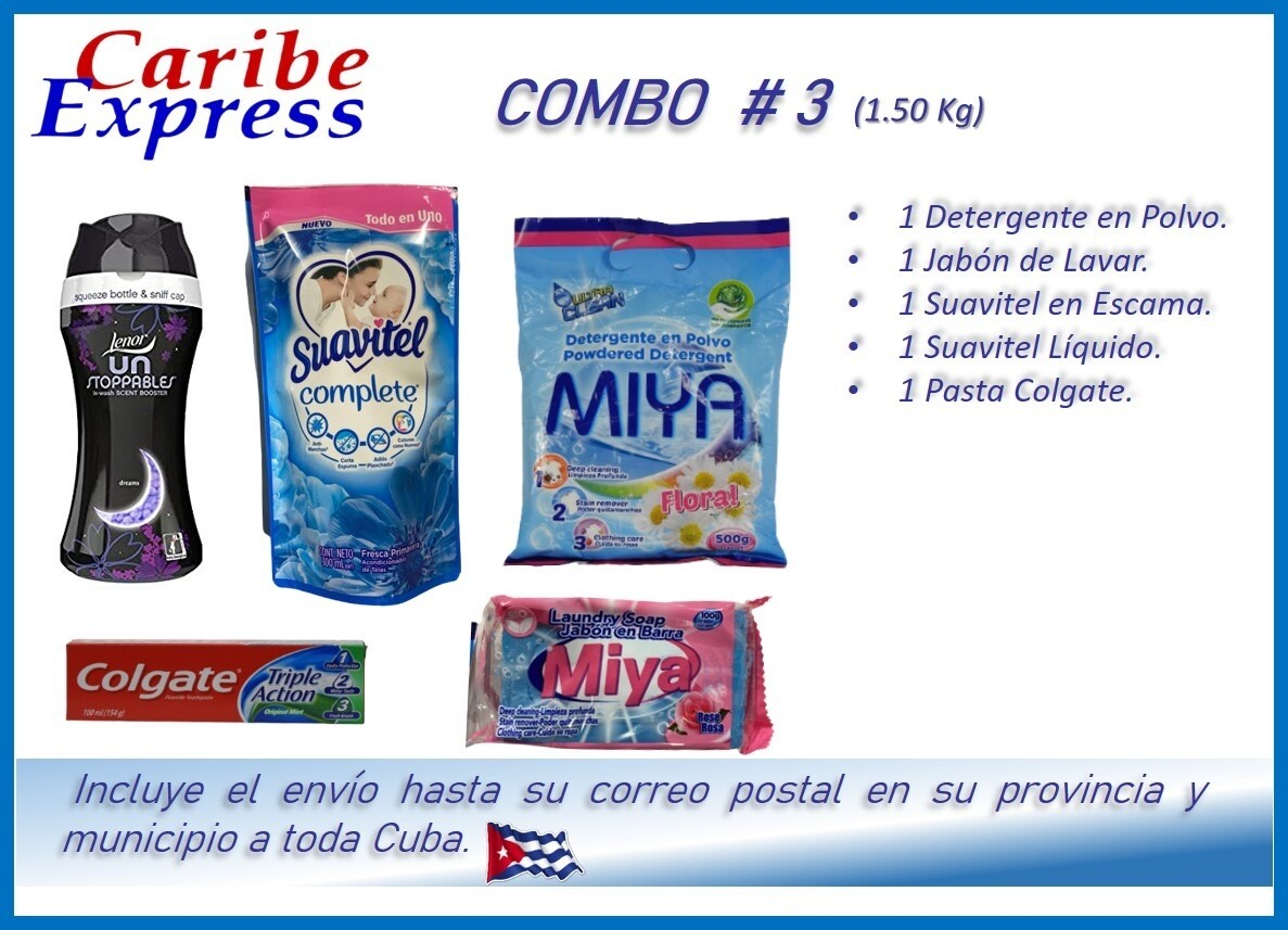 CE- P003 COMBO ASEO # 3 - CARIBE (60 Dias)