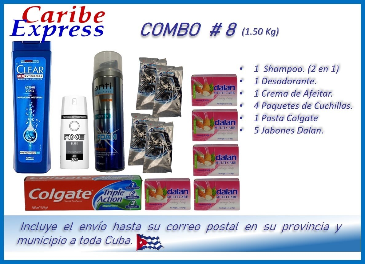 CE- P008 COMBO ASEO # 8 - CARIBE (60 Dias)