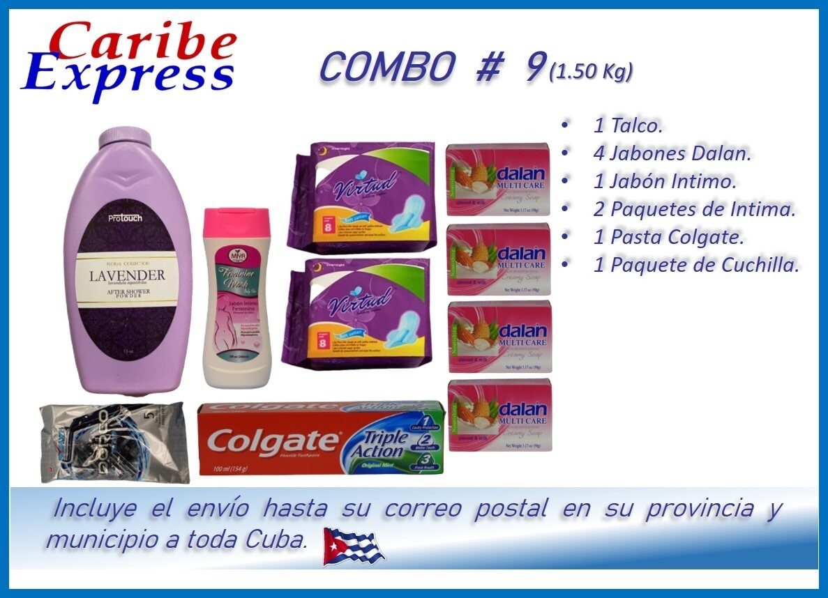 CE- P009 COMBO ASEO # 9 - CARIBE (60 Dias)