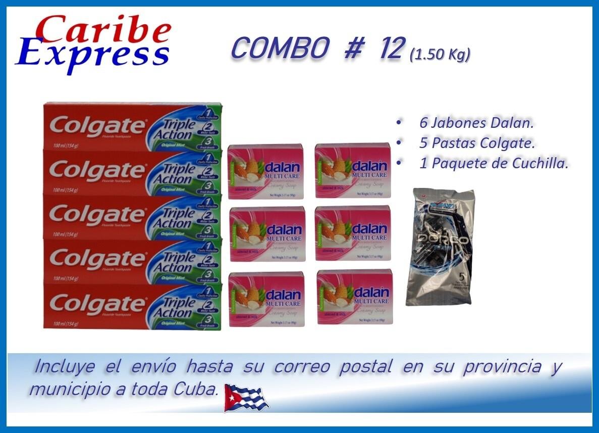 CE- P012 COMBO ASEO #12 - CARIBE (60 Dias)
