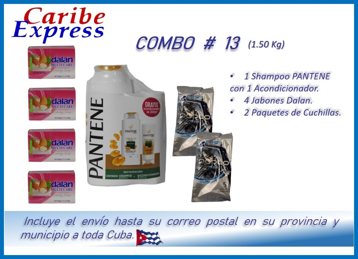 CE- P013 COMBO ASEO #13 - CARIBE (60 Dias)