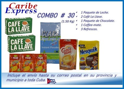 CE- P030 COMBO ALIMENTO # 30 - CARIBE (60 Dias)