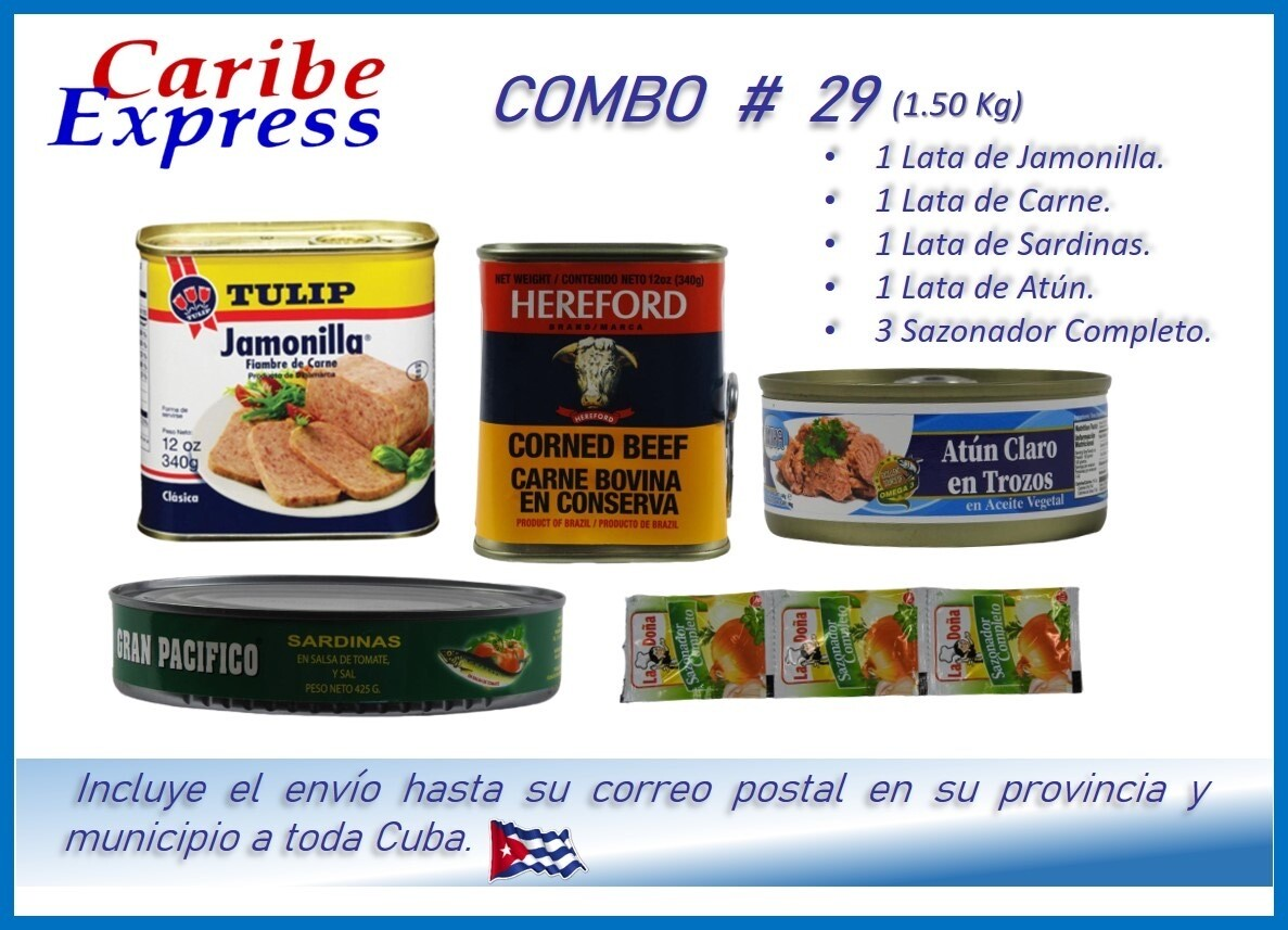 CE- P029 COMBO ALIMENTO # 29 - CARIBE (60 Dias)