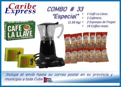 CE-P033 COMBO CON CAFETERA # 33 - CARIBE (60 Dias)