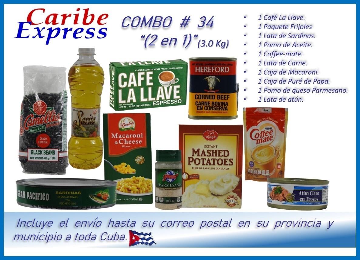 CE- P034 COMBO ALIMENTO # 34 - (2 EN 1) CARIBE