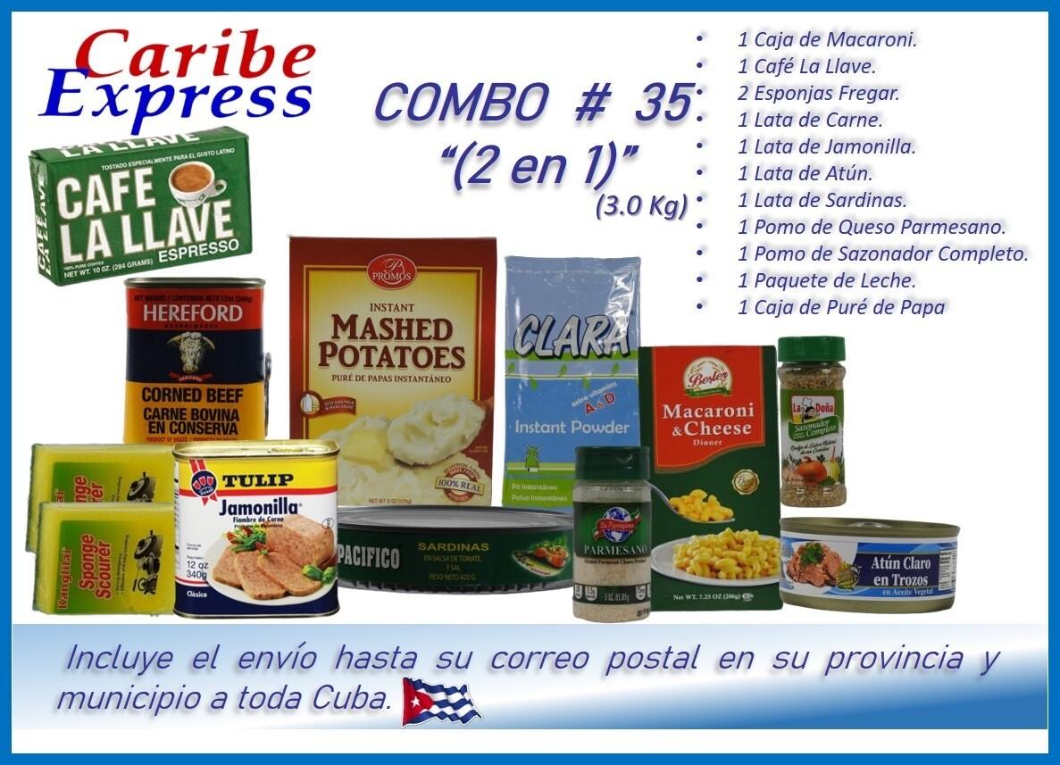CE- P035 COMBO ALIMENTO # 35 - (2 EN 1) CARIBE