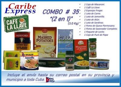CE- P035 COMBO ALIMENTO # 35 - (2 EN 1) CARIBE (60 Dias)