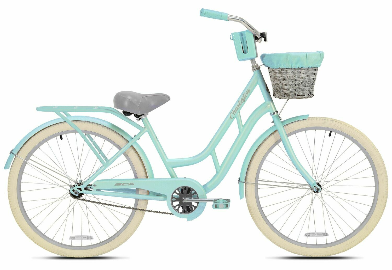 "CE-116 Kent 26"" Charleston Women's Cruiser Bike, Mint Green - CARIBE"