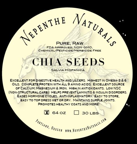 Pure Whole Chia Seeds 64 Dry oz