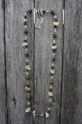 Tiger's Eye, Citrine, & Quartz Necklace