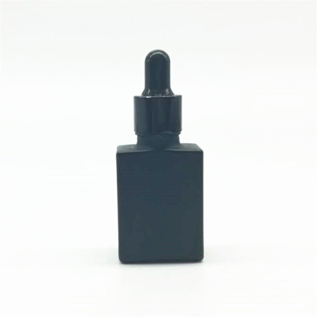 0.5 oz BLACK Square Dropper Bottle