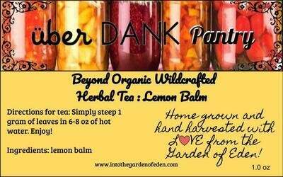 Beyond Organic Lemon Balm Pure Herbal Tea