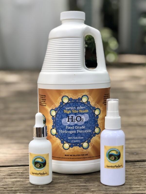 1/2 gallon 35% Food Grade Hydrogen Peroxide