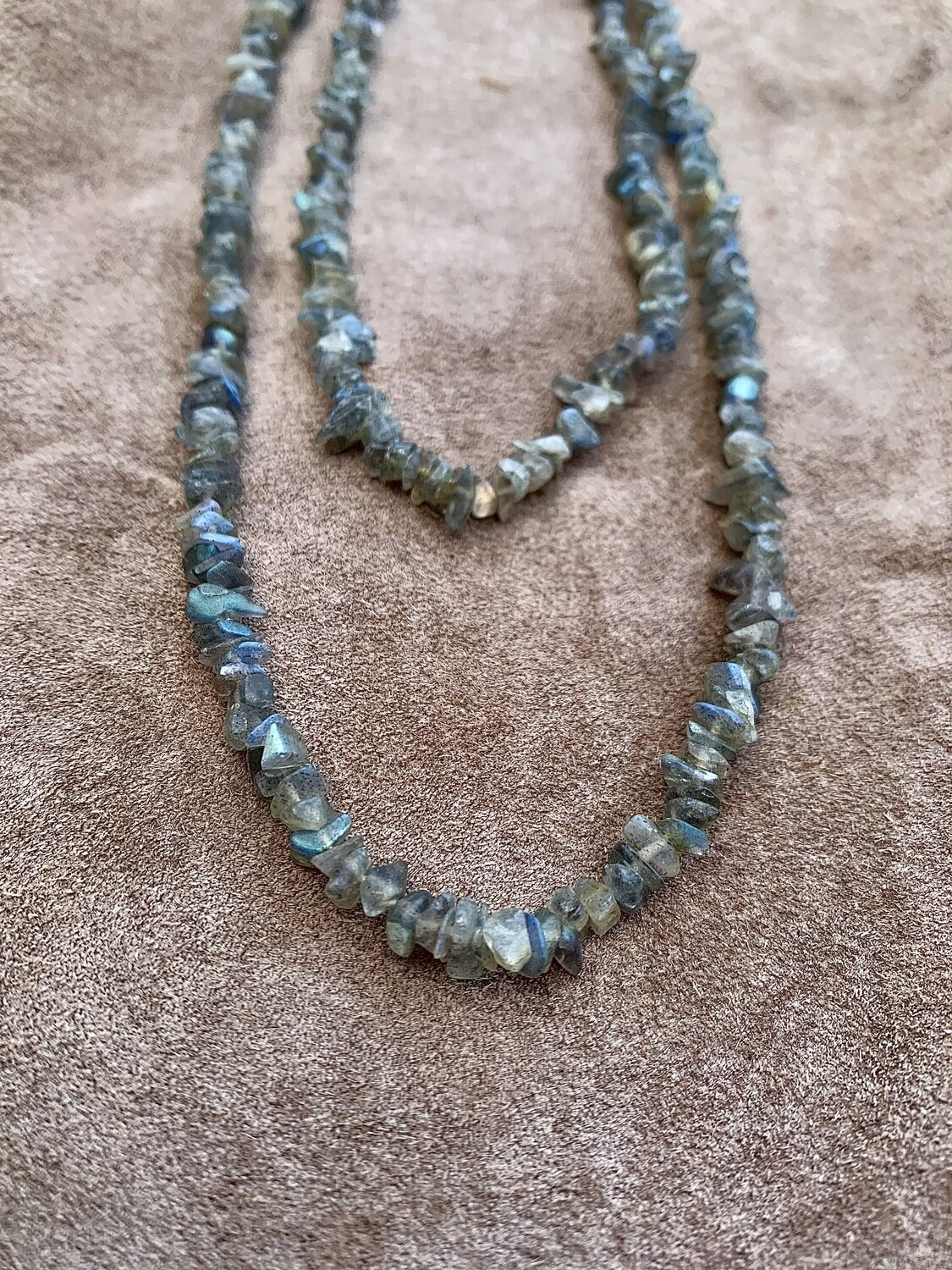 Long Labradorite Chain