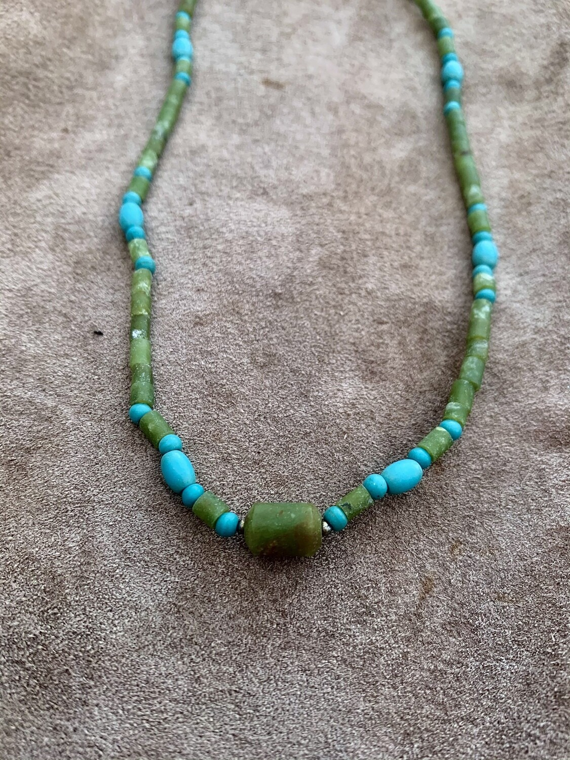 Delicate Jade & Turquoise Necklace