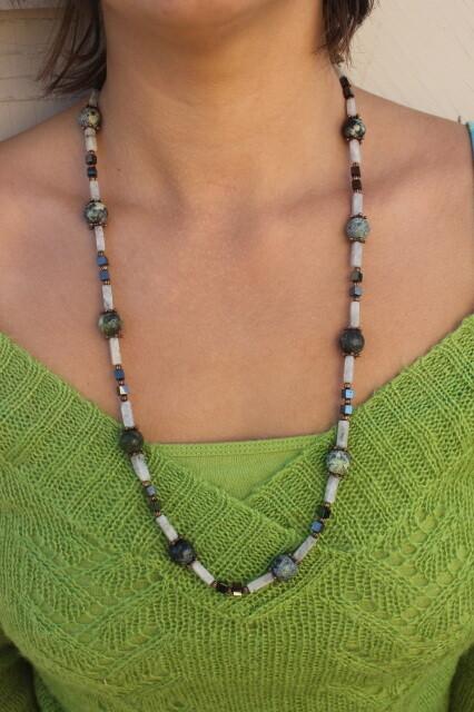 Jasper, Rose Quartz, and Hematite Necklace
