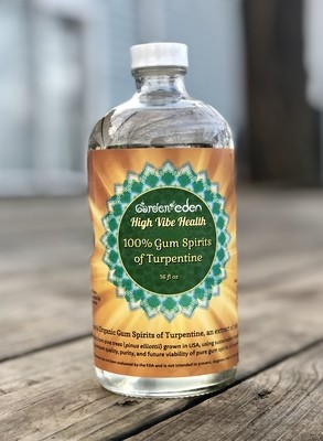 16 oz 100% Gum Spirits of Turpentine