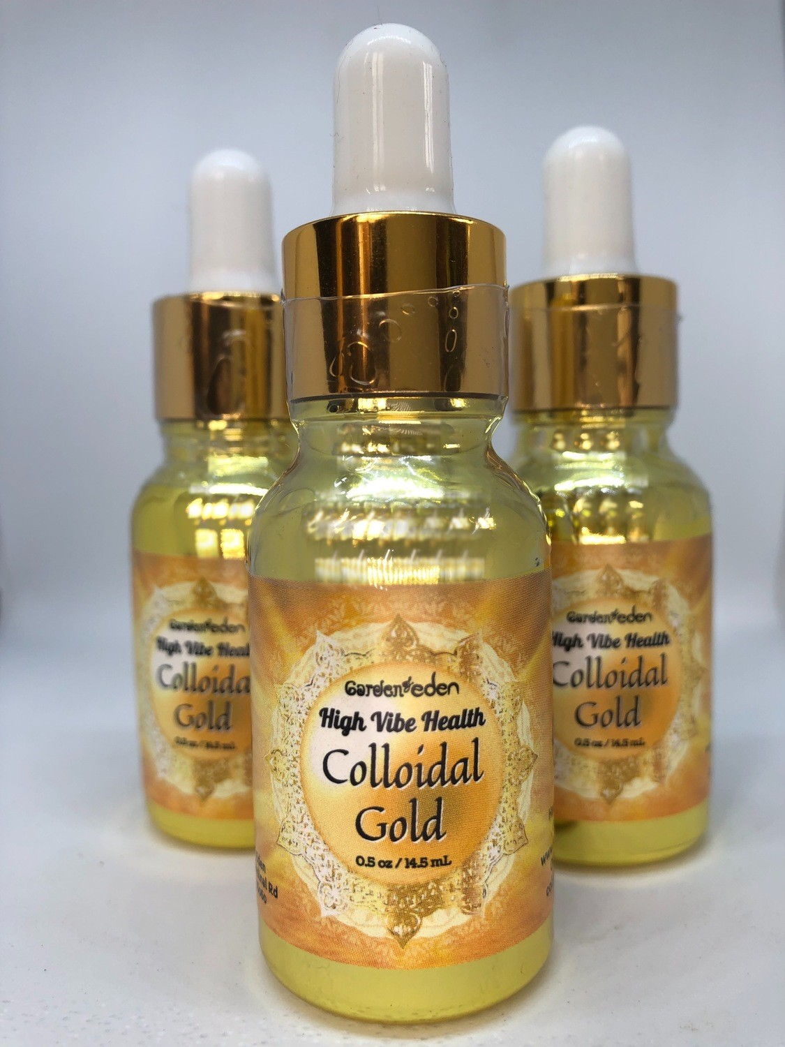 3 bottles of Colloidal Gold