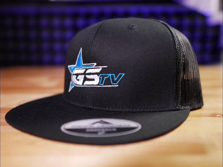 Blue/White GSTV Logo Flat Bill Trucker Cap