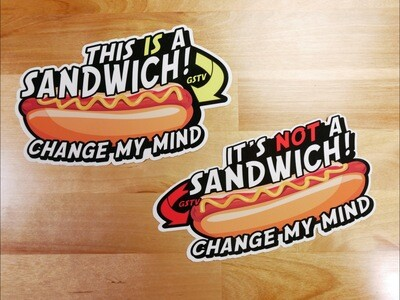 Hotdog Sandwich Decals