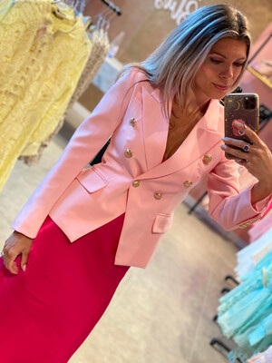 Bela Blazer - Neon Light Pink - Special Order