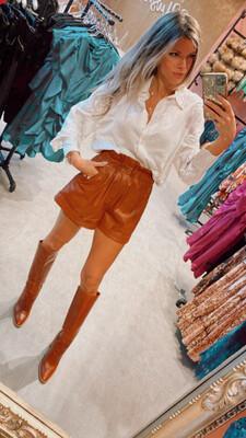 Tabetha Vegan Leather Shorts