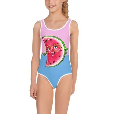 Pink And Blue Watermelon In The Sin Swimsuit